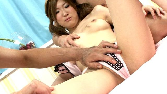 Puny Asian Nubile Nymphet Izumi Koizumi Will Get Molten Figure Groped Through 2 Fellows