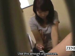 Subtitled Asian Cougar Massagist Trained Hand-job Rubdown
