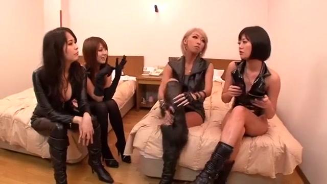Wonderful Asian Bi-atch Mana Izumi, Hitomi Kitagawa, Uta Kohaku In Nasty Reside Displays Jav Movie